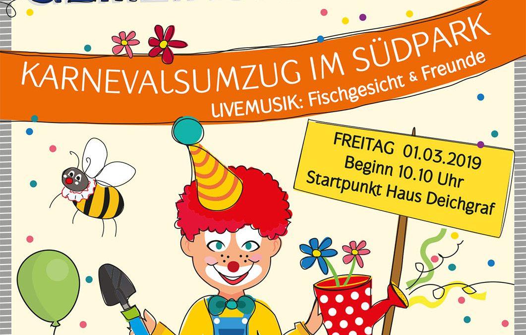 """Karnevalsumzug im Südpark """"Jeden Tag gemeinsam Jeck"""""""