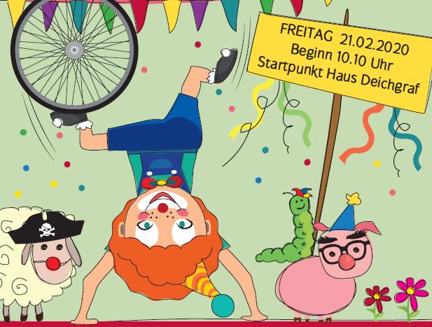 """""""DER SÜDPARK DREHT AM RAD""""- Karnevalsumzug im Südpark"""